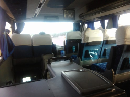 Mozambique by bus. This is the Intercape bust from Maputo to Jhb. Travels day or night.