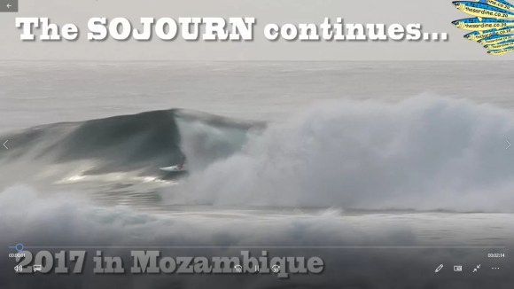 Chris Leppand and Hate Speech surfing Mozambique
