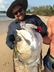 The Tarpon of Angola: Marc Lange at a secret spot nearish to Cabinda, in Angola.