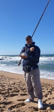 Shaun Begg with a blacktail - Sardine Report 7 June 2021