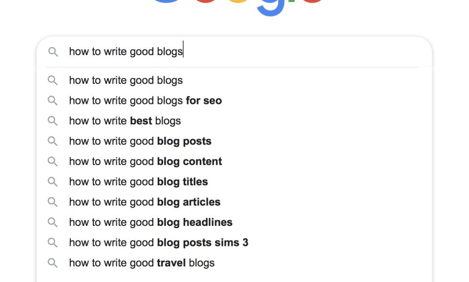 Keywords for blogging