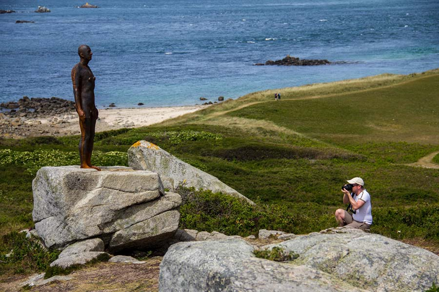 Anthony Gormley sculpture on Herm