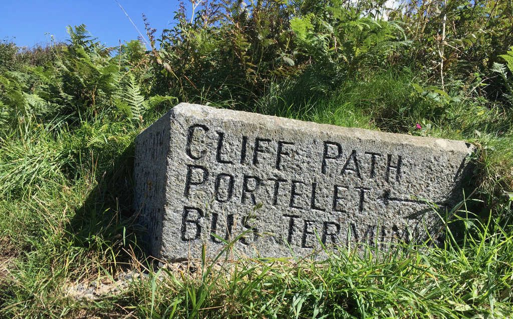 Cliff path to Portelet, Guernsey