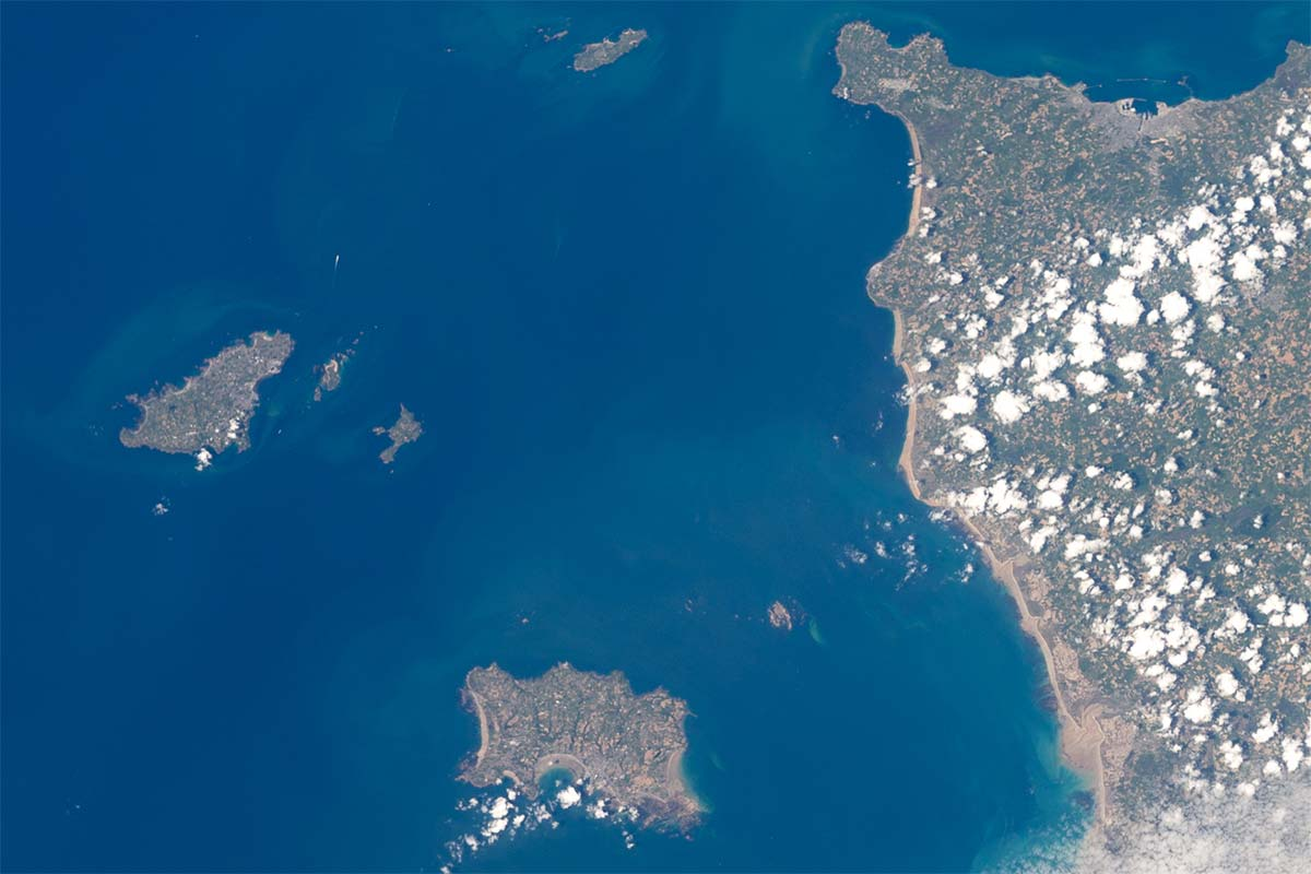 The Channel Islands from the ISS