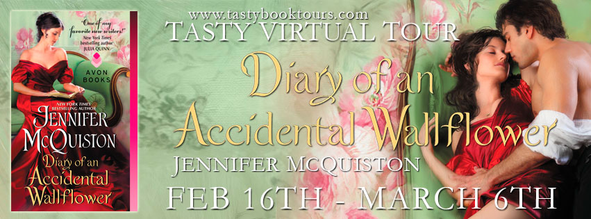 DIARY OF AN ACCIDENTAL WALLFLOWER by Jennifer McQuiston: Review & Giveaway