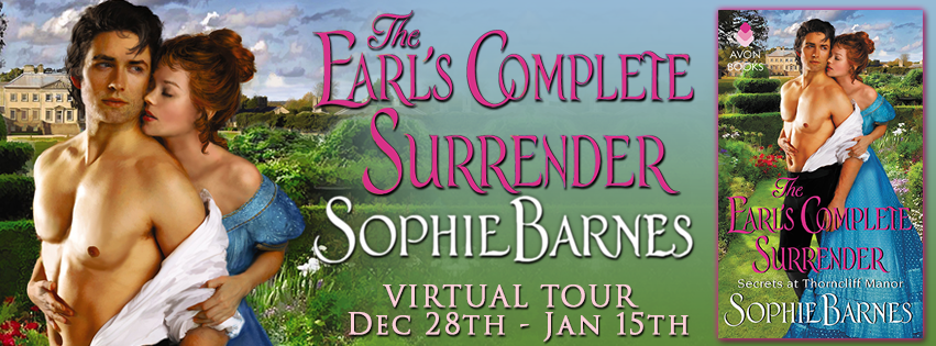 THE EARL'S COMPLETE SURRENDER by Sophie Barnes: Excerpt & Giveaway