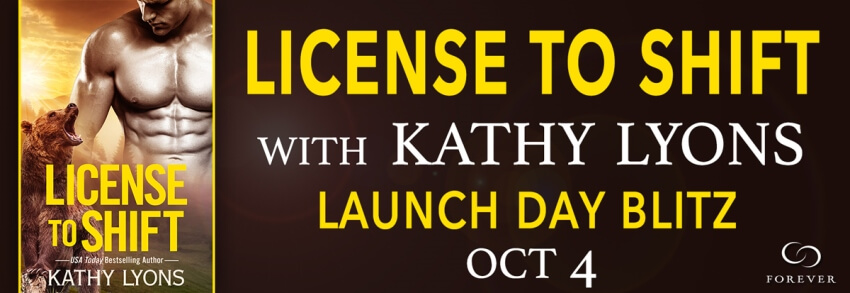LICENSE TO SHIFT by Kathy Lyons: Launch Day Blitz
