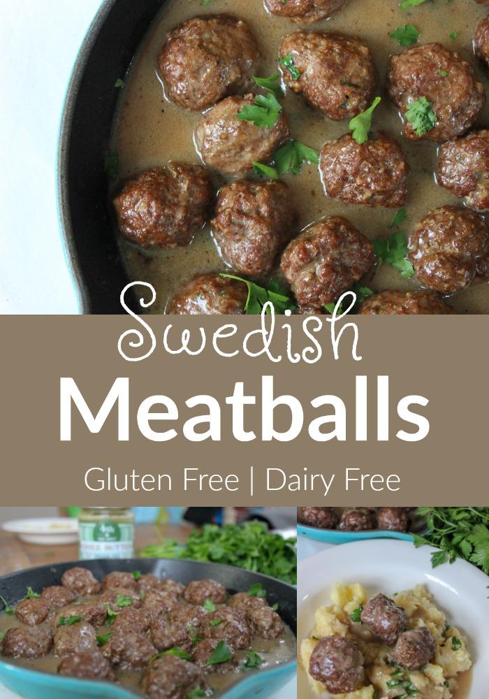 Swedish Meatballs (Gluten & Dairy Free)