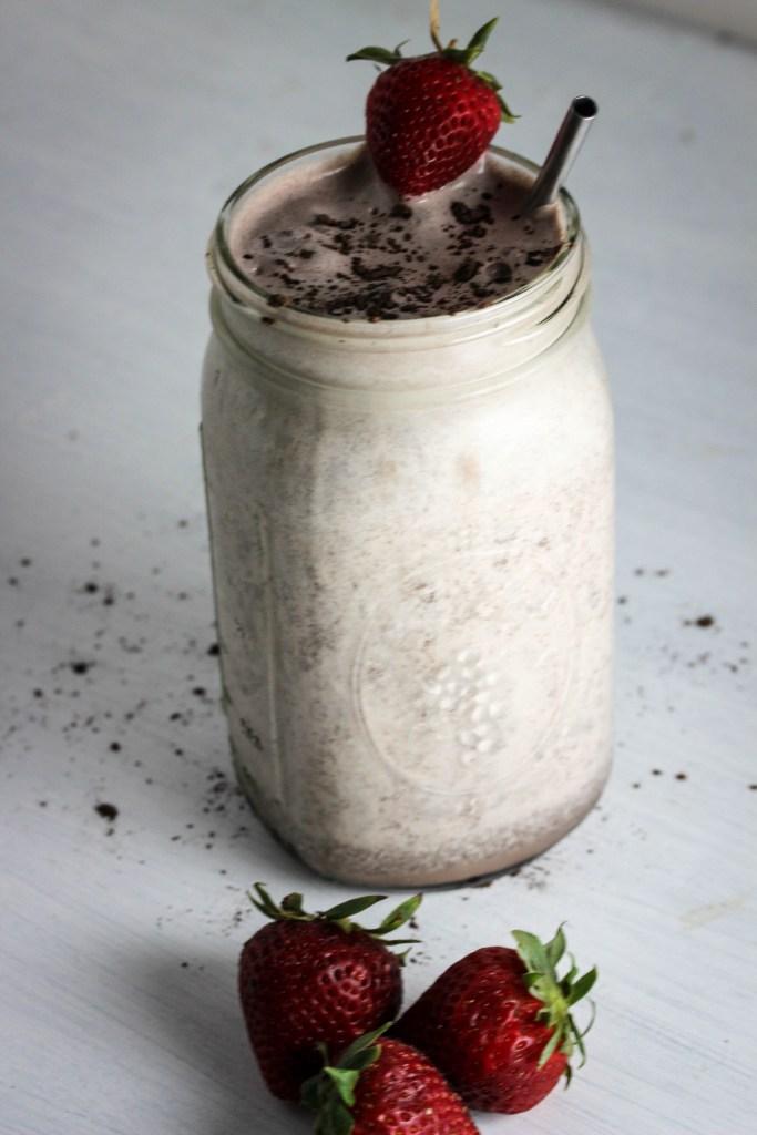 strawberry mocha milkshake
