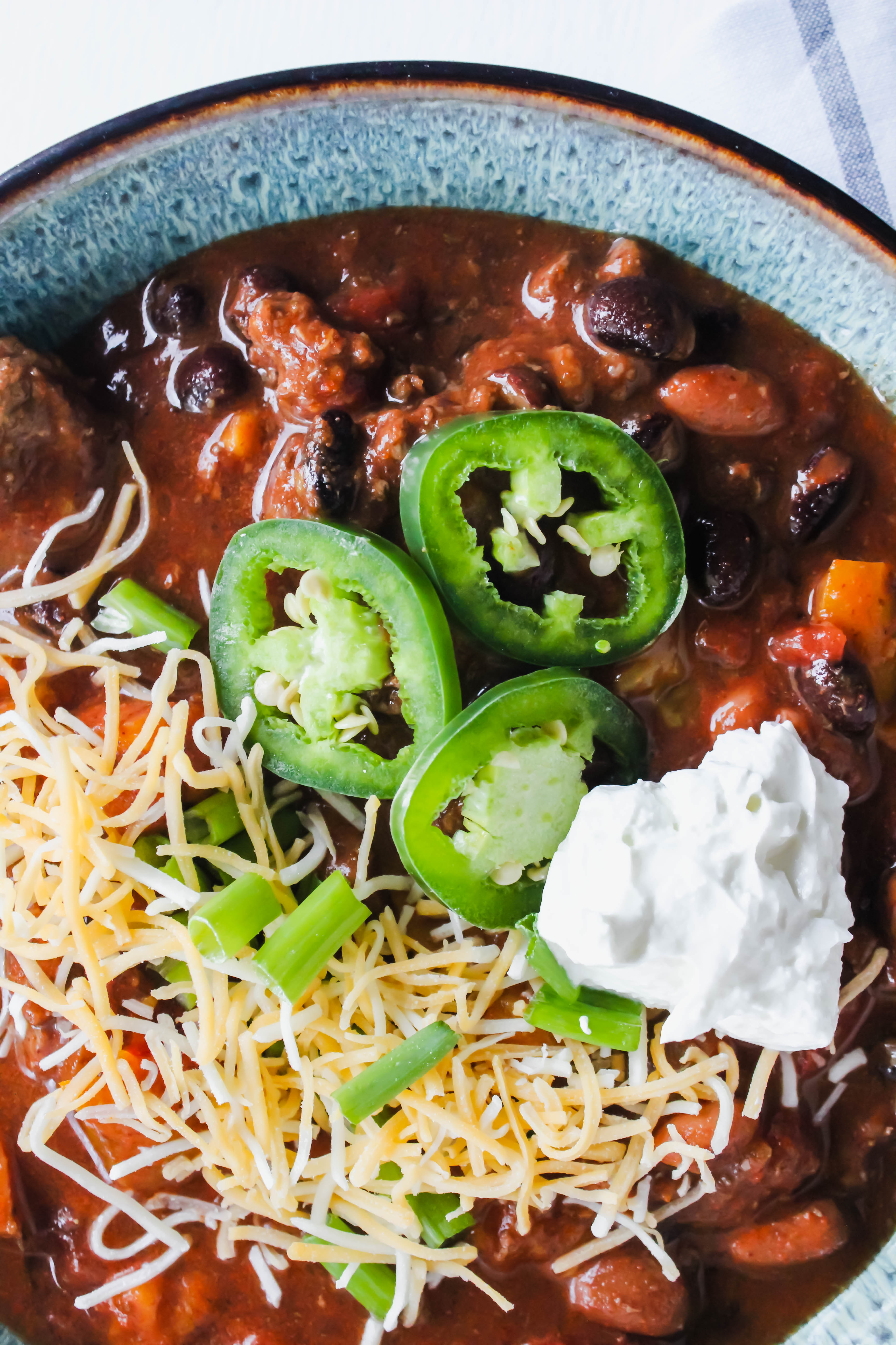 instant pot beef & bean chili