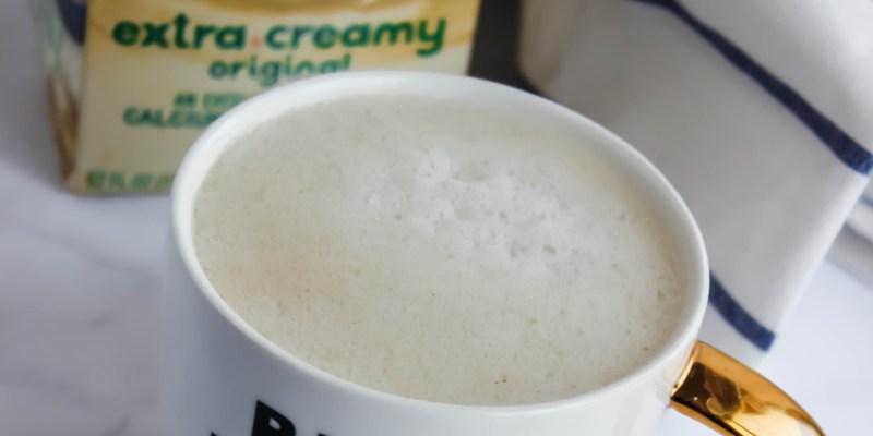 homemade oat milk latte