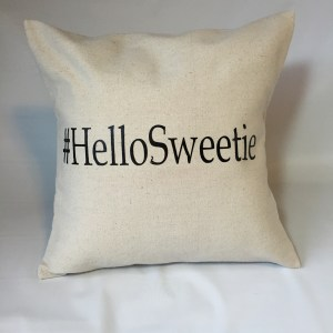 Doctor Who Hello Sweetie Pillow Throw $35