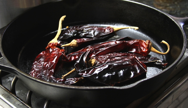 chorizo-chili-toasting