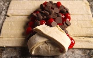 Puff Pastry Chocolate Cherry Braid Recipe