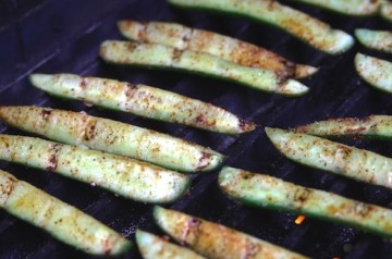 Grilled Cukes and Pickled Feta Dip Recipe