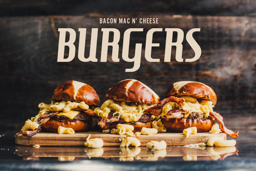 Bacon Mac 'n Cheese Burger Recipe