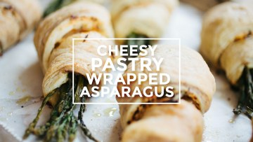 Cheesy Pastry Wrapped Asparagus Recipe