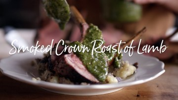 Smoked Crown Roast of Lamb Recipe