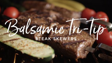Balsamic Tri-Tip Steak Skewers Recipe