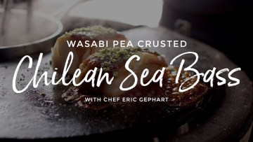 Wasabi Pea Crusted Chilean Sea Bass Recipe