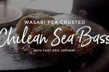 Wasabi Pea Crusted Chilean Sea Bass Recipe