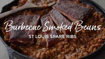 Barbecue Smoked Beans St. Louis Spare Ribs