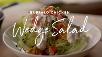 buffalo chicken wedge salad