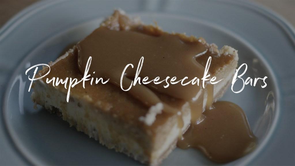 Pumpkin Cheesecake Bars Recipe