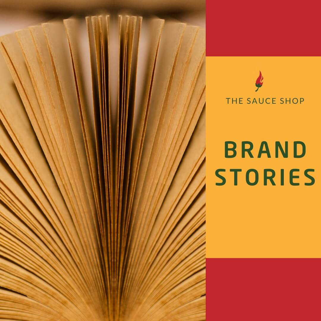 Image of a the brand story page