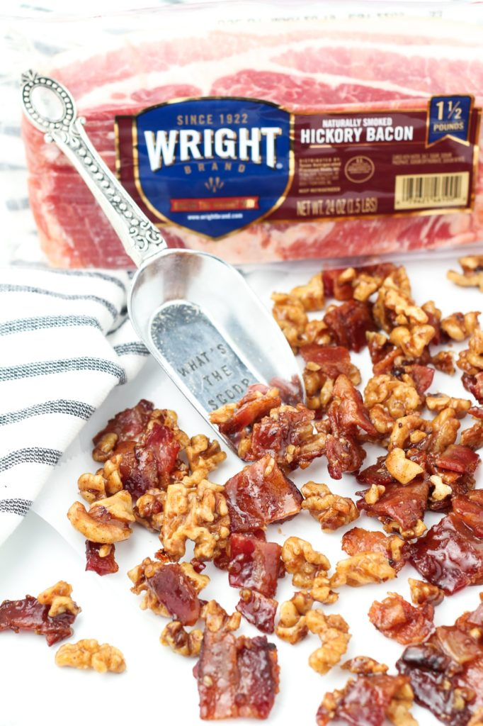 candied walnuts and bacon