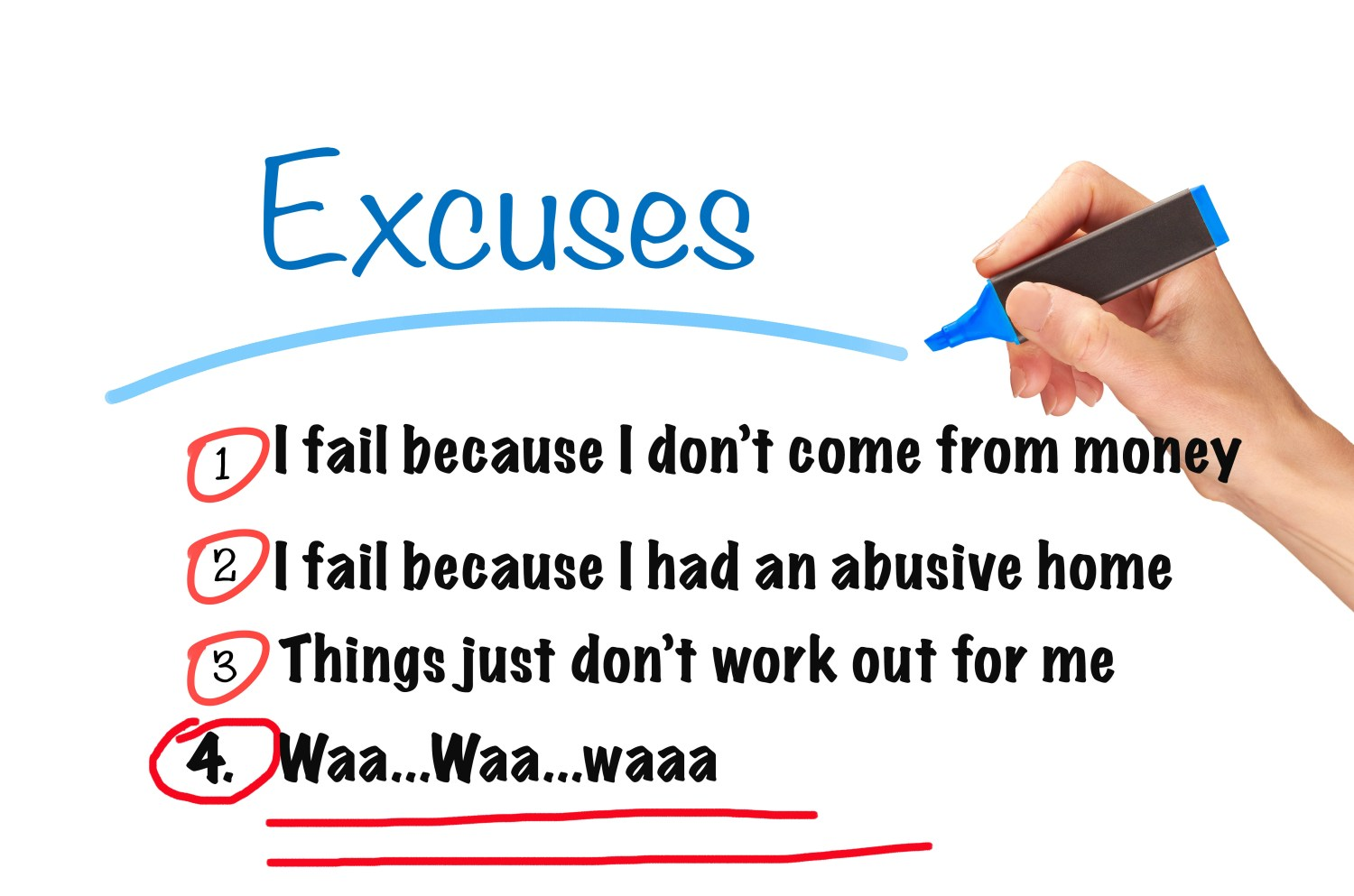 Excuses Concept.