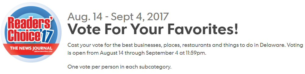 Vote for your Favorites in Readers Choice 2017