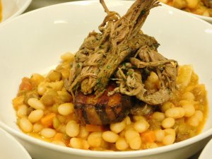 Cassoulet Jerk Chicken over Pigeon Peas Delaware