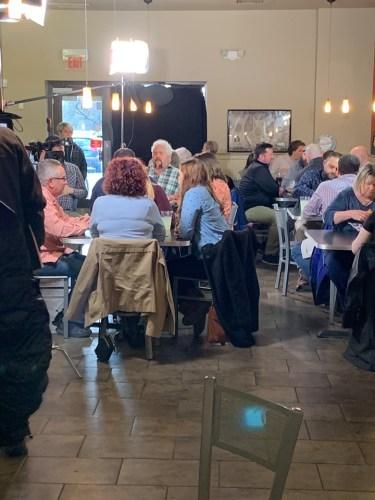 Guy Fieri Films at Maiale Deli in Wilmington Delaware 2019