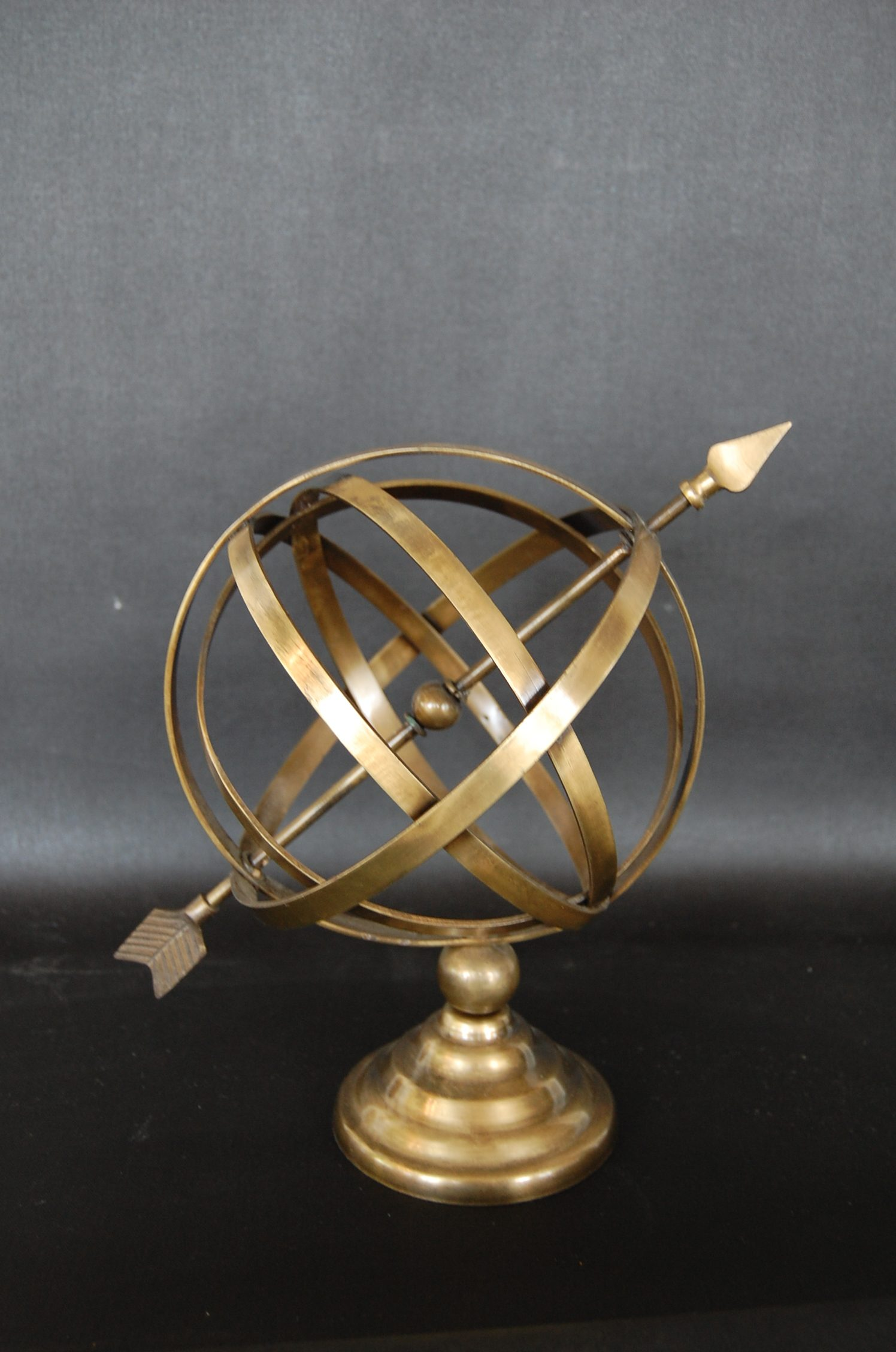 Brushed Brass Armillary Sphere Amp Arrow The Savoy Flea