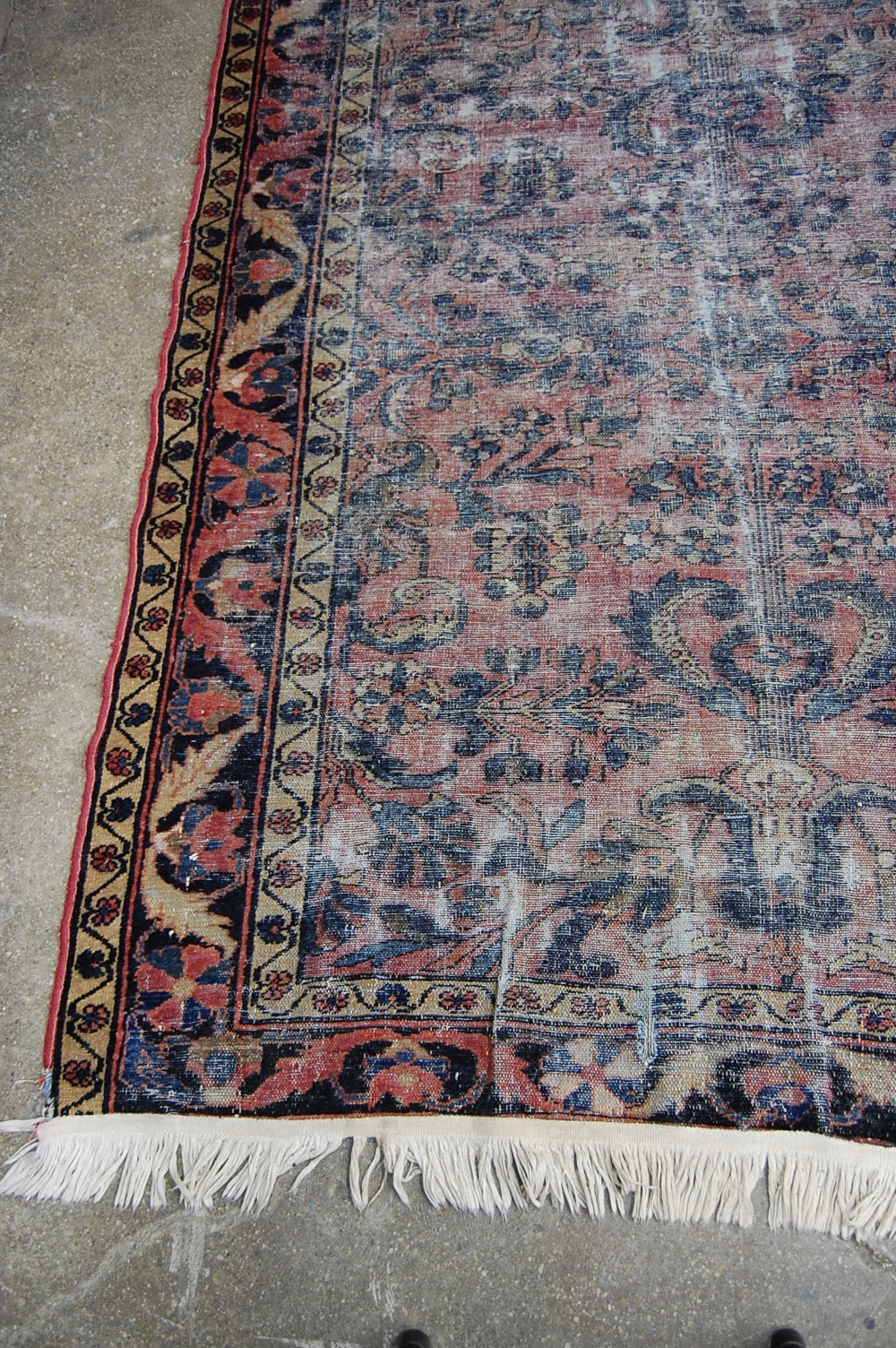 1920 S Distressed Persian Sarouk Kilim Rug The Savoy Flea