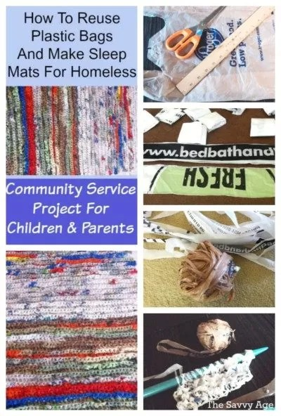 Learn how to turn plastic bags into sleep mats for the homeless.
