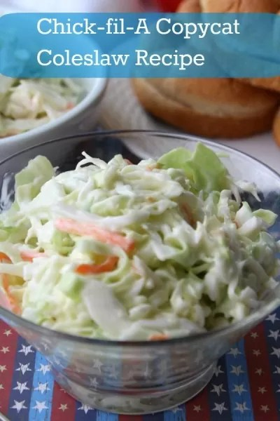 Chick-fil-A coleslaw recipe in a bowl.