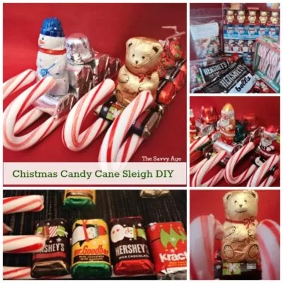 DIY! Cute Christmas Candy Cane Sleigh