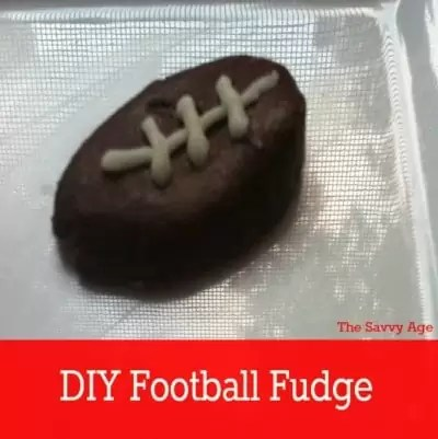 Fudge in the shape of a football.