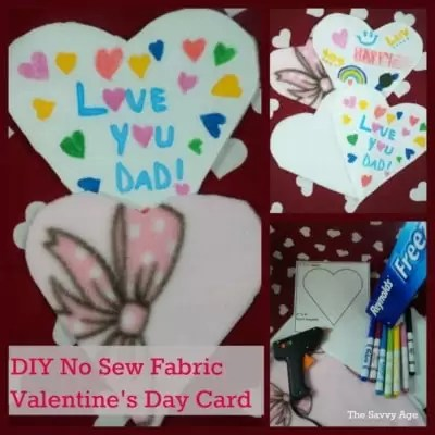 No Sew Valentine's Day Card For Kids
