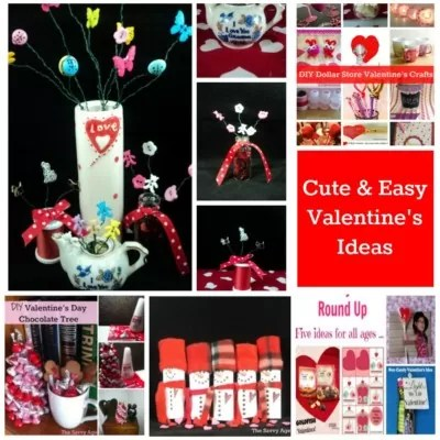 7 easy Valentine's Ideas to make for all ages by all ages.