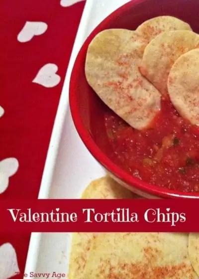 Easy Valentine Tortilla chips to make and enjoy!