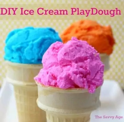 Stay At Home Kids Craft! Make Edible Ice Cream Play Dough