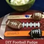Melts in your mouth DIY Football Fudge recipe for game day!