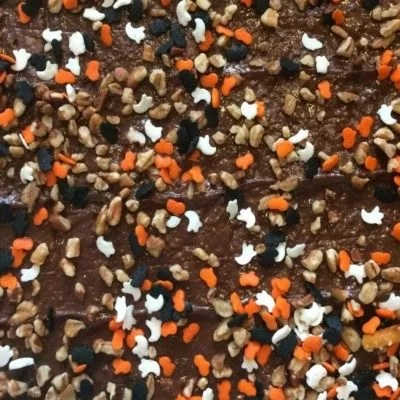 Yummy Halloween Chocolate Bark recipe. No guest can eat just one piece!