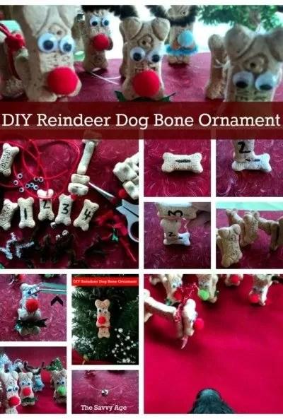 Reindeer Ornaments made from dog bones.