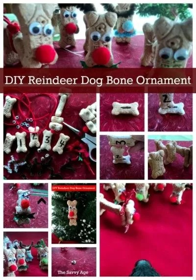 Easy Reindeer Craft with dog bones. Christmas Reindeer craft for all ages and all dog lovers.