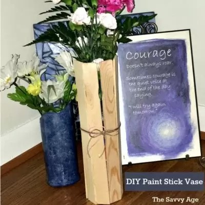 Party On! DIY Paint Stick Vase