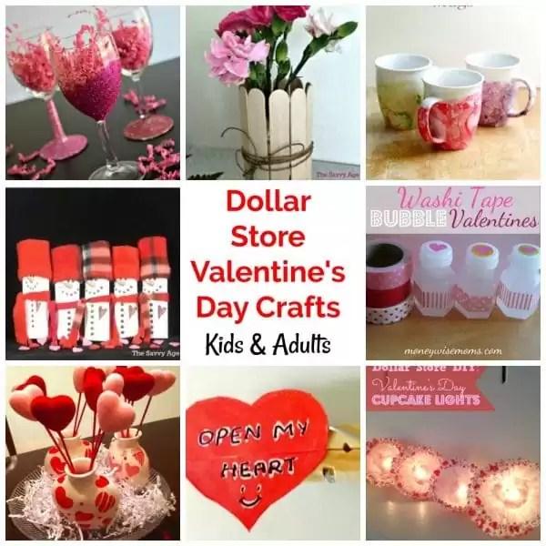 DIY Dollar Store Valentine's Day Crafts & Gifts